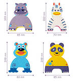 Детские аква-пазлы Baby Great Смешные животные, 4 игрушки, фото 5