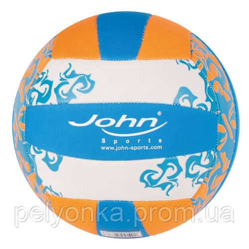 М'яч воллейбольный John Пляж, неопрен, 5/22 см, в асортименті