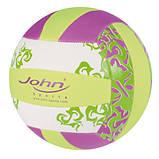 М'яч воллейбольный John Пляж, неопрен, 5/22 см, в асортименті, фото 2