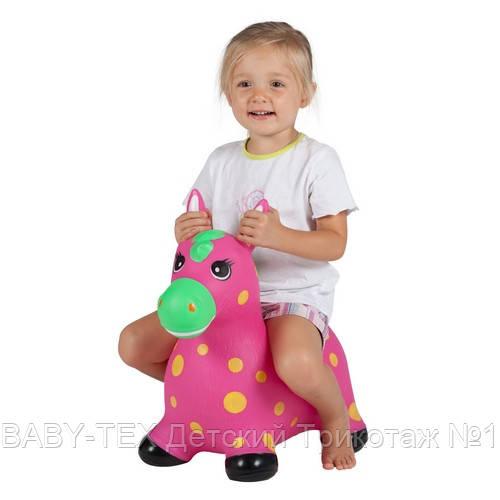 Детский прыгун John Пятнистый пони, розовый БРАК УПАКОВКИ