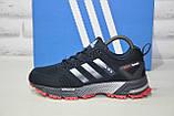 Кроссовки синие сетка в стиле Adidas Marathon унисекс, фото 4