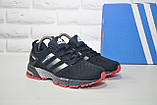 Кроссовки синие сетка в стиле Adidas Marathon унисекс, фото 5