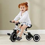 Детский трёхколёсный беговел-трансформер POPPET 3 в 1, чёрно-белый (PP-1701W), фото 8
