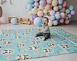 Дитячий двосторонній складаний килимок POPPET Пригоди ведмедиків і Танець панд,200х180х1см ШЛЮБ УПАКОВКИ, фото 10
