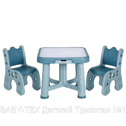 Дитячий функціональний столик POPPET Монохром і два стільчика ШЛЮБ УПАКОВКИ