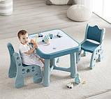Дитячий функціональний столик POPPET Монохром і два стільчика ШЛЮБ УПАКОВКИ, фото 2