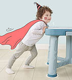Дитячий функціональний столик POPPET Монохром і два стільчика ШЛЮБ УПАКОВКИ, фото 3