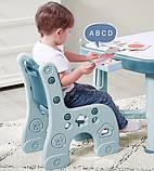 Дитячий функціональний столик POPPET Монохром і два стільчика ШЛЮБ УПАКОВКИ, фото 4