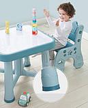 Дитячий функціональний столик POPPET Монохром і два стільчика ШЛЮБ УПАКОВКИ, фото 5