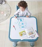 Дитячий функціональний столик POPPET Монохром і два стільчика ШЛЮБ УПАКОВКИ, фото 6