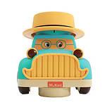 Машинка інерційна з обертанням на 360 градусів NUKIED Ретро авто, Френк, зі звуком і світлом ШЛЮБ УПАКОВКИ, фото 4