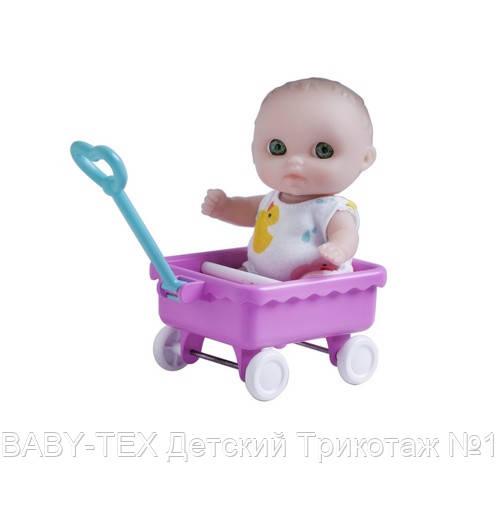 Пупс-малюк JC Toys з візком, 13 см (JC16912-2)