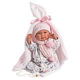 Пупс Ньюборн інтерактивний, Плакса Мімі, з біло-рожевою ковдрою, зі звуком, 40 см (74084), фото 2