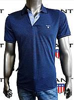 Футболка-поло для мужчин GANT, копия класса люкс.Турция