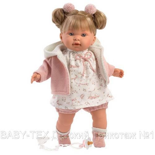 Лялька інтерактивна, Плакса Олександра, світло-русява в пудровому, зі звуком, 42 см (42266)