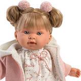 Лялька інтерактивна, Плакса Олександра, світло-русява в пудровому, зі звуком, 42 см (42266), фото 2