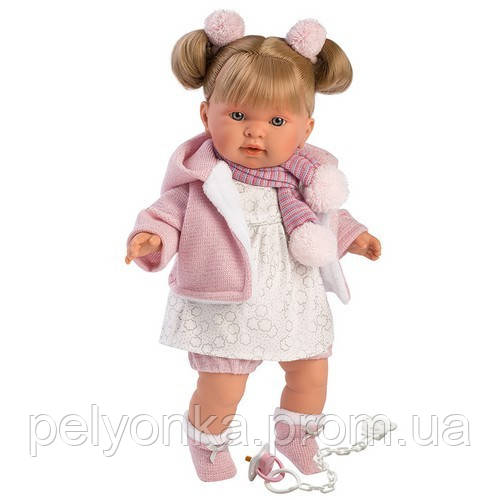 Інтерактивна Лялька, Плакса Олександра, світло-русява в ліловому, зі звуком, 42 см (42262)