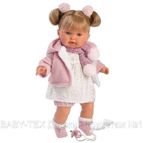 Лялька інтерактивна, Плакса Олександра, світло-русява в ліловому, зі звуком, 42 см (42262)