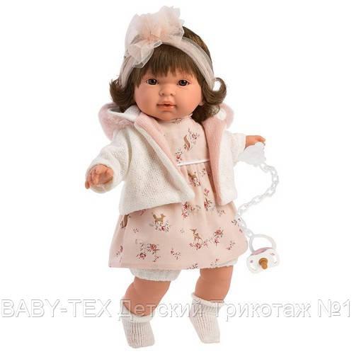 Лялька інтерактивна, Плакса Піппа, шатенка в біло-абрикосовому, зі звуком, 42 см (42156)