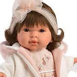 Лялька інтерактивна, Плакса Піппа, шатенка в біло-абрикосовому, зі звуком, 42 см (42156), фото 2