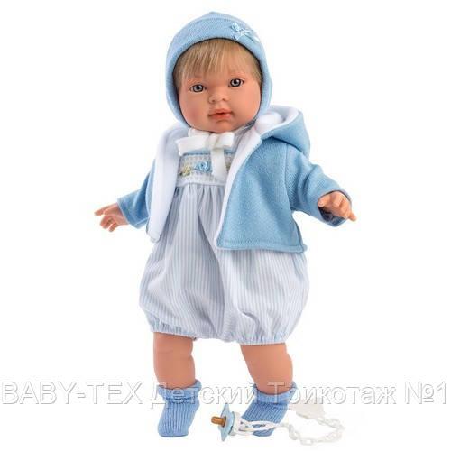 Інтерактивна Лялька, Плаксун Мігель, світло-русявий в блакитному, зі звуком, 42 см (42153)