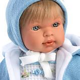 Інтерактивна Лялька, Плаксун Мігель, світло-русявий в блакитному, зі звуком, 42 см (42153), фото 2