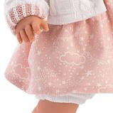 Інтерактивна Лялька, Плакса Лола, шатенка в рожево-білому, зі звуком, 38 см (38562), фото 4