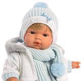 Лялька інтерактивна, Плаксун Саша, світло-русявий в блакитно-білому, зі звуком, 38 см (38561), фото 3