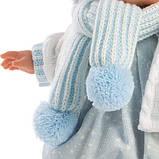 Лялька інтерактивна, Плаксун Саша, світло-русявий в блакитно-білому, зі звуком, 38 см (38561), фото 4
