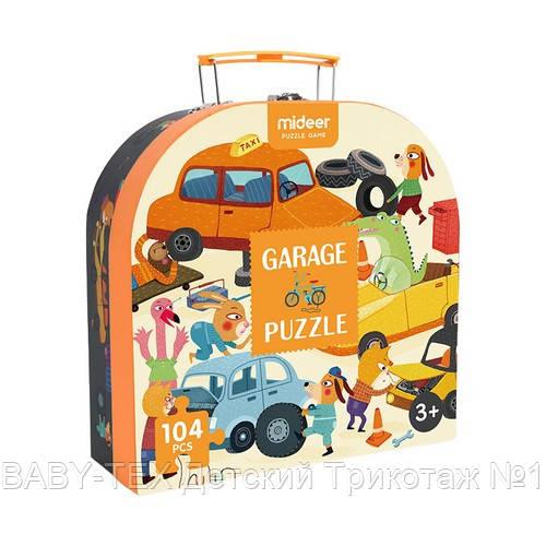 Пазл в чемоданчике «Гараж», 104 части, MIDEER (MD3078)