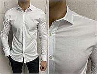 Мужская классическая рубашка белого цвета весна лето Турция