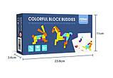 Мозаика-Танграм «Цветная», с уровнями сложности, 20 карточек и 21 фигура (MD1082), фото 2