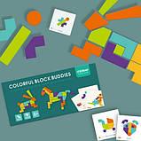 Мозаика-Танграм «Цветная», с уровнями сложности, 20 карточек и 21 фигура (MD1082), фото 4