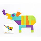 Мозаика-Танграм «Цветная», с уровнями сложности, 20 карточек и 21 фигура (MD1082), фото 5