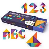 Мозаїка-Танграм «Кольорова», 50 карток і 7 фігур (MD1035), фото 3