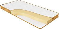 Ортопедический матрас спальный Релакс беспружинный на кровать высота 12 см двусторонний