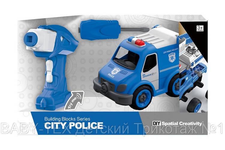 Полицейский грузовик на р/у, 21 деталь, конструктор (LM8022-YZ-1)