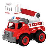 Пожежна машина з драбиною на р/у, 33 деталі, конструктор (LM8034-YZ-1), фото 2