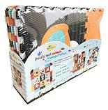 Дитячий розвиваючий ігровий килимок-пазл Baby Great Швидкий транспорт, з бортиком, 122х122 см (GB-M2005E), фото 2