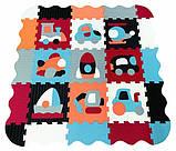 Дитячий розвиваючий ігровий килимок-пазл Baby Great Швидкий транспорт, з бортиком, 122х122 см (GB-M2005E), фото 3