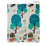 Дитячий двосторонній складаний килимок POPPET Весела жирафа і Загадковий ліс, 150х180х1 см (PP009-150), фото 3