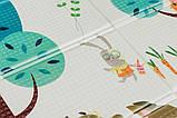 Дитячий двосторонній складаний килимок POPPET Весела жирафа і Загадковий ліс, 150х180х1 см (PP009-150), фото 4