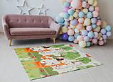 Дитячий двосторонній складаний килимок POPPET Весела жирафа і Загадковий ліс, 150х180х1 см (PP009-150), фото 7