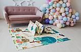 Дитячий двосторонній складаний килимок POPPET Весела жирафа і Загадковий ліс, 150х180х1 см (PP009-150), фото 9