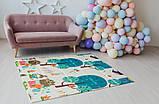 Дитячий двосторонній складаний килимок POPPET Весела жирафа і Загадковий ліс, 150х180х1 см (PP009-150), фото 10
