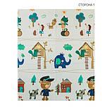 Детский двусторонний складной коврик POPPET Лесные жители и Добрые соседи, 150х180x1 см PP008-150), фото 3