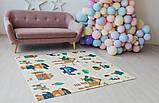 Дитячий двосторонній складаний килимок POPPET Лісові жителі і Добрі сусіди, 150х180х1 см PP008-150), фото 8