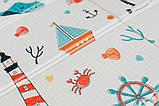 Детский двусторонний складной коврик POPPET Морской сезон и Зимние совушки, 150х180x1 см (PP007-150), фото 6