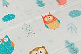 Детский двусторонний складной коврик POPPET Морской сезон и Зимние совушки, 150х180x1 см (PP007-150), фото 7