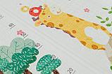 Дитячий двосторонній складаний килимок POPPET Транспорт і Зоолетчики, 200х180х1 см (PP005-200), фото 4